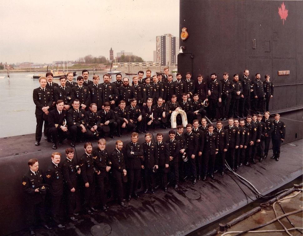 HMCS OKANAGAN taken in HMS Dolphin Gosport UK 1979 WUPS